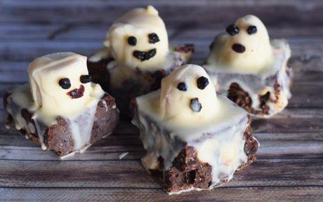 Raw Halloween Ghostie Brownies [Vegan, Gluten-Free, Grain-Free]0