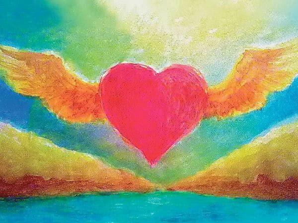 Winged Heart Postcard