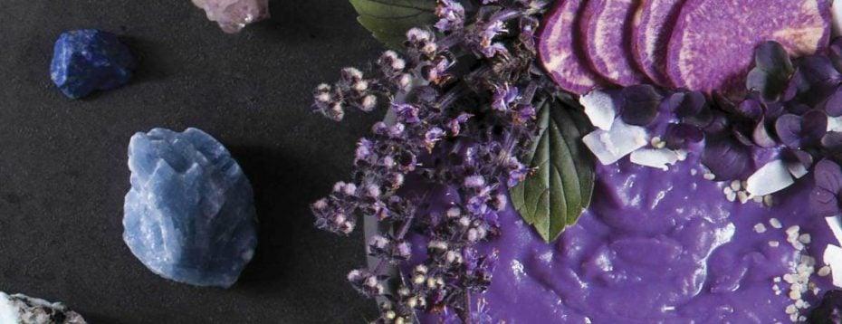 Purple Sweet Potato Coconut Soup For The Ajna (Third Eye) Chakra